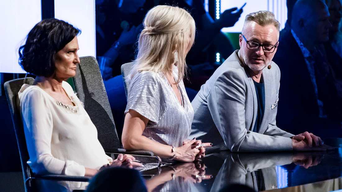 Cecilia Lazar (till vänster) och Tony Irving var helt oense om Robin Bengtssons utstrålning.