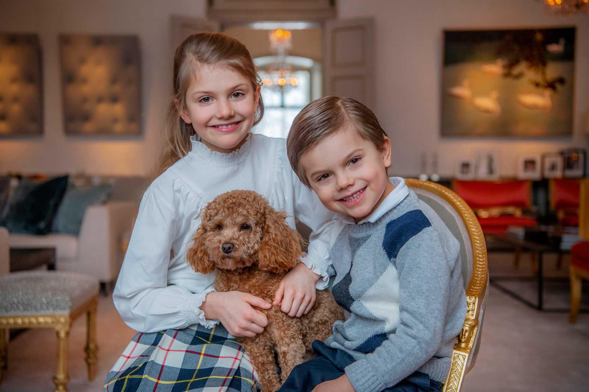 Prinsessan Estelle och prins Oscar uppges vara friska och mår bra.