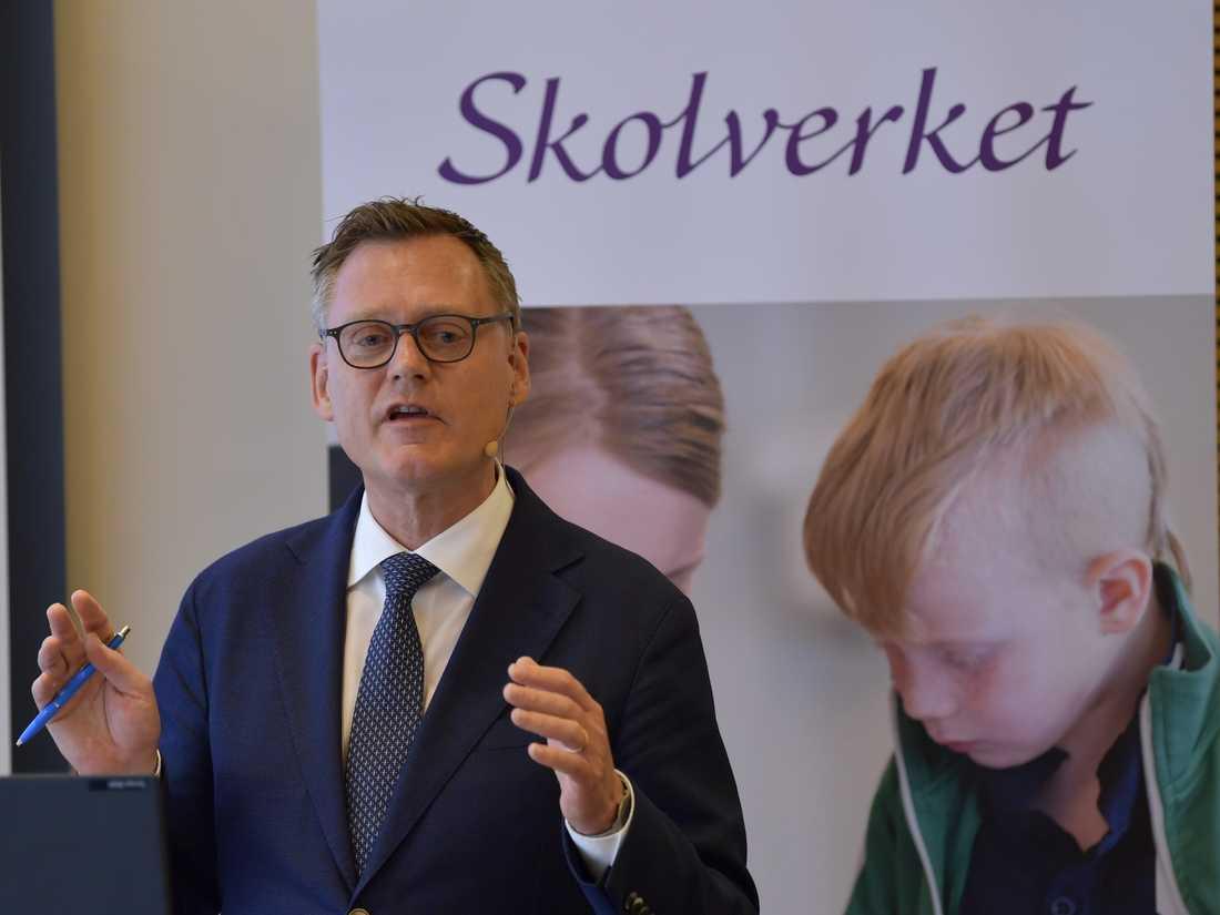 Skolverkets generaldirektör Peter Fredriksson konstaterar att svenska lärare trivs med sitt jobb.