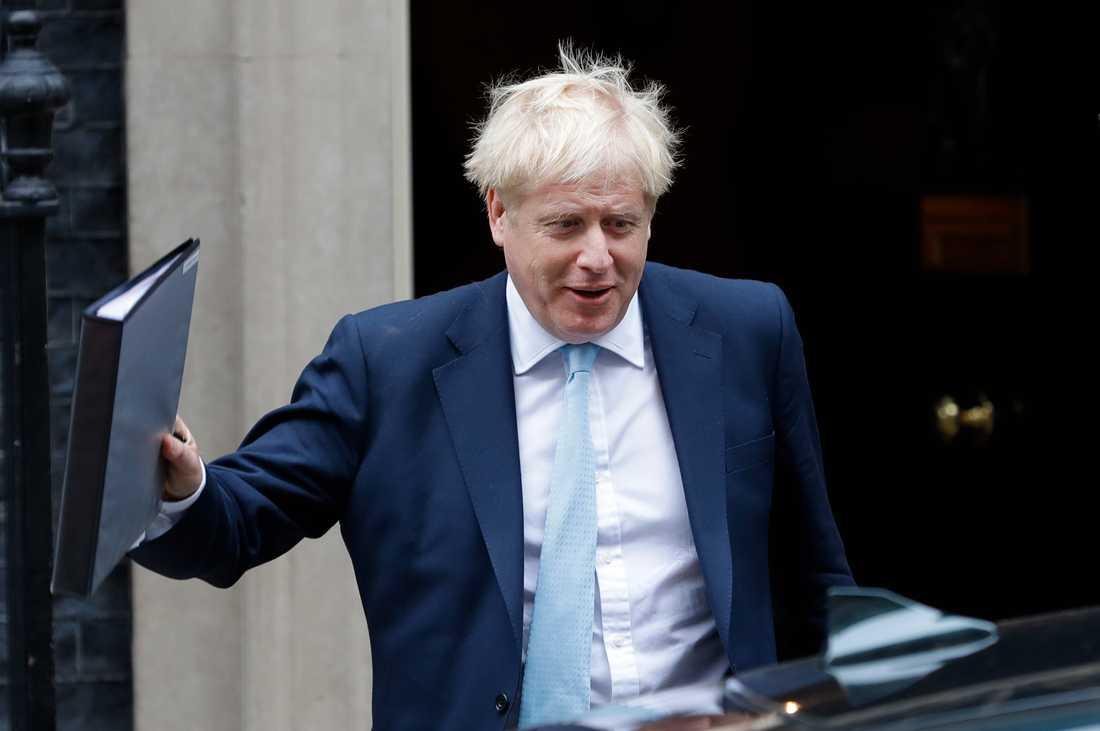 Storbritanniens premiärminister Boris Johnson utanför Downing Street i förra veckan.