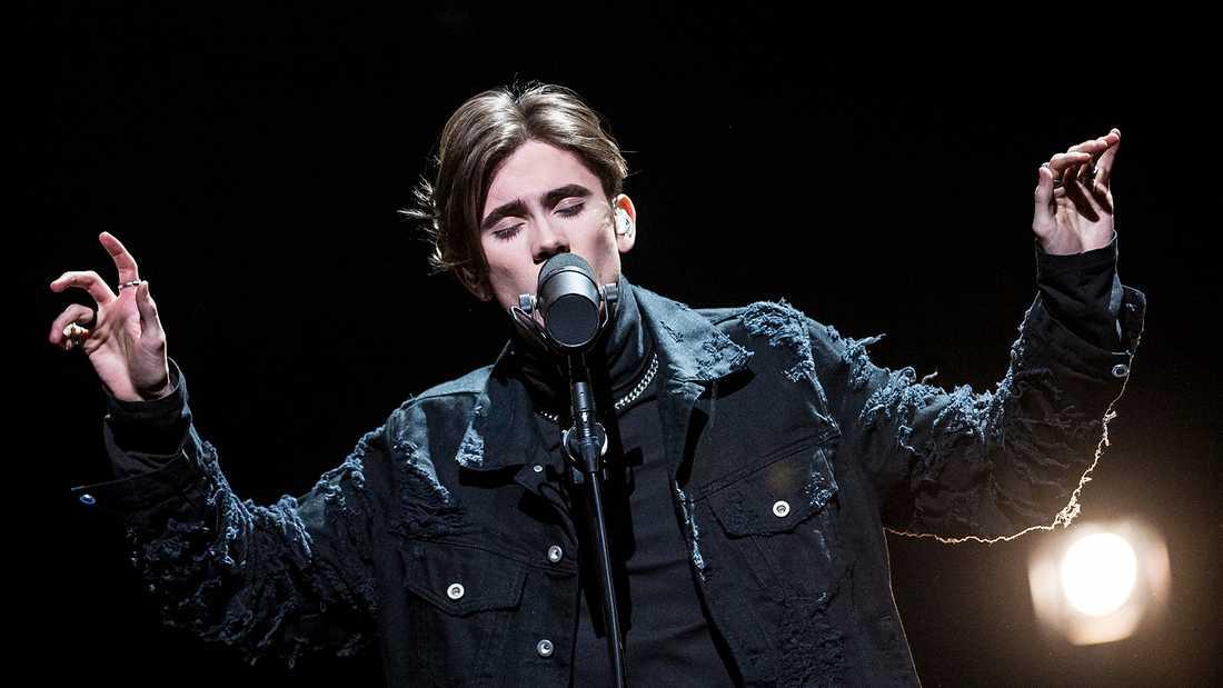 Felix Sandman slutade tvåa i Melodifestivalen 2018.