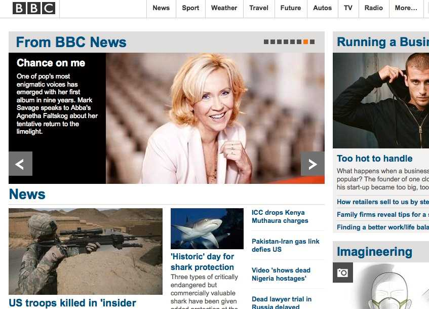 BBC toppade med intervjun med svenskan.