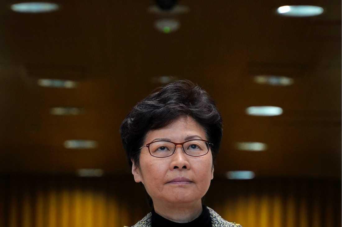 Hongkongs högsta ledare Carrie Lam. Arkivbild.