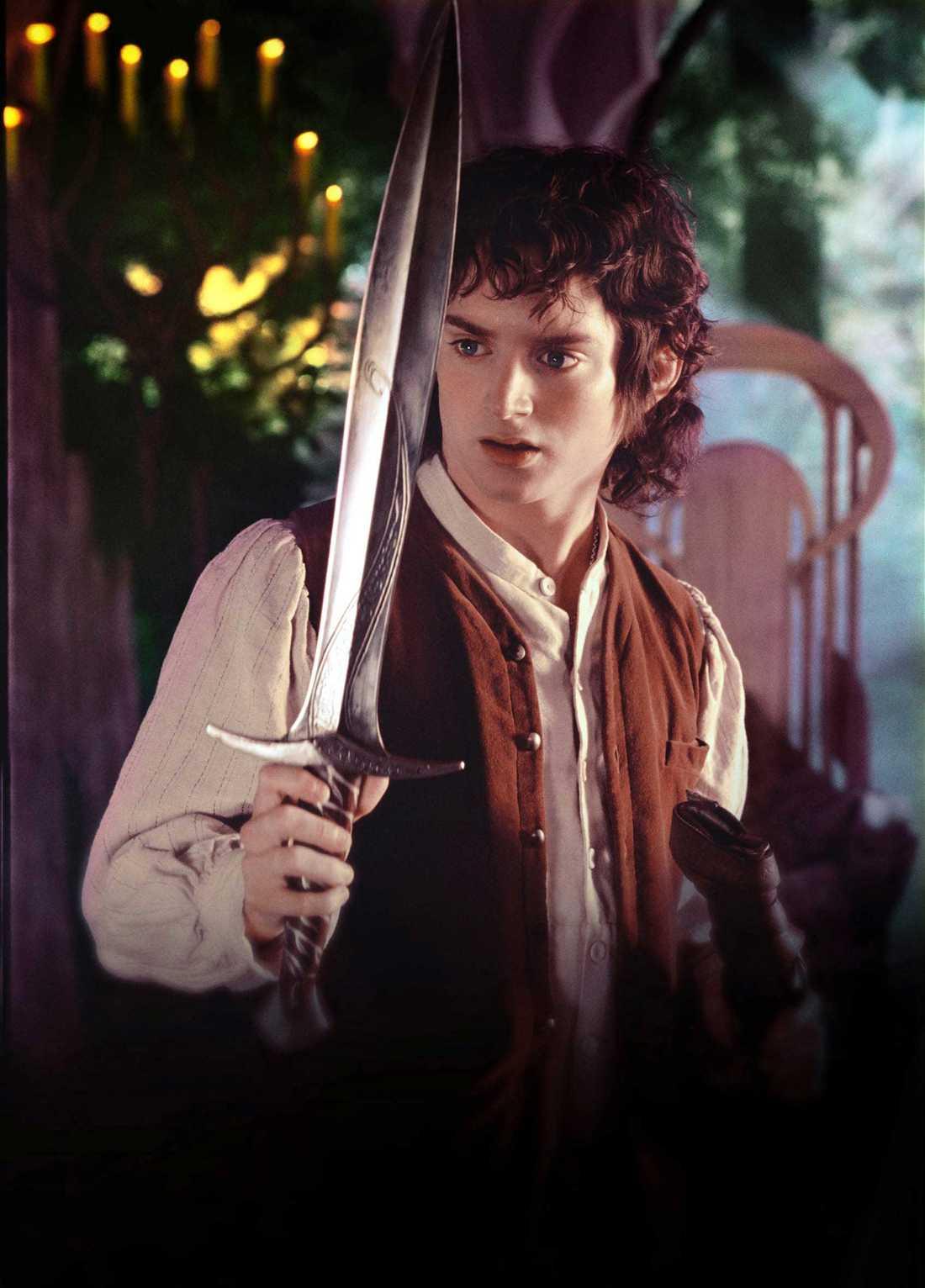 """Karaktären """"Frodo"""" från """"Sagan om ringen"""", här porträtterad av Elijah Wood."""