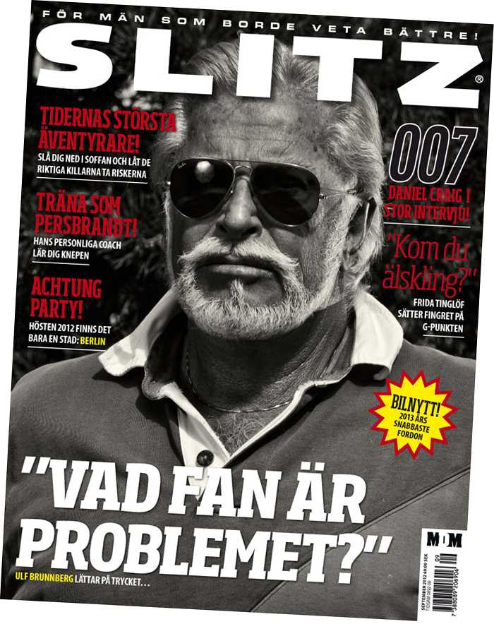 Ulf Brunnberg i nya numret av Slitz som kommer ut i dag.