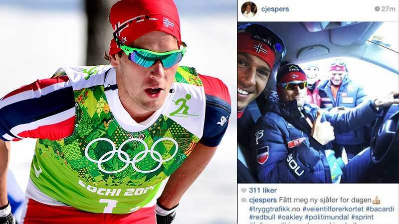 Chris Jespersen tog senare bort den opassande bilden han publicerade på sin Instagram under måndagen.