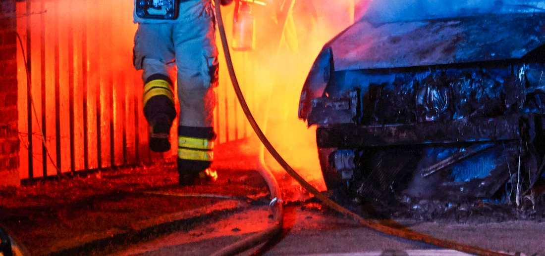 Arkivbild. En annan bilbrand i Malmö.