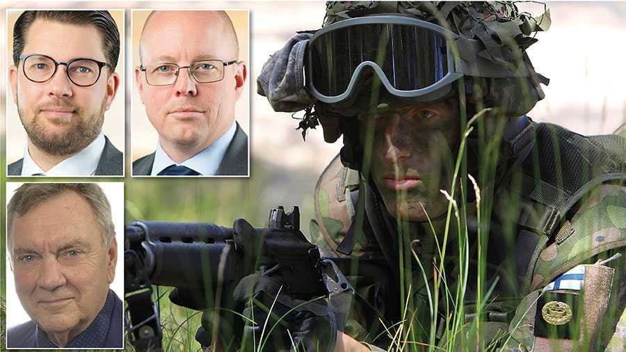 Genom att Sverige uttalar en så kallad Natooption, likt Finland, stärker vi säkerheten i vårt närområde. Detta inte innebär att man förbehåller sig rätten att gå med i Nato – men inte att man ska göra det, skriver Jimmie Åkesson, Björn Söder och Roger Richthoff.