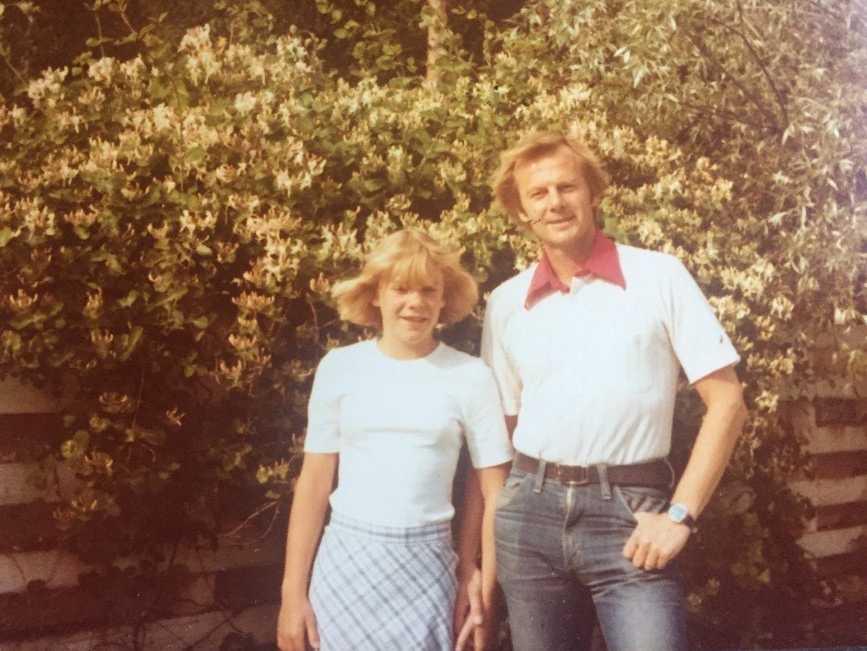 Magdalena Andersson tillsammans med sin pappa Göran Andersson, lektor i statistik.