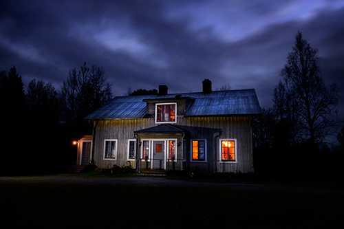 Sveriges påstått mest hemsökta hus. Foto: Jerker Ivarsson