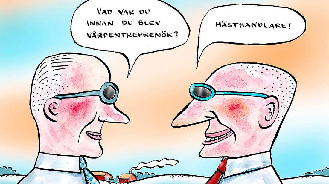 Firande för V Att den nya regeringen vill begränsa vinster i välfärden är en stor seger för Vänsterpartiet och Jonas Sjöstedt.