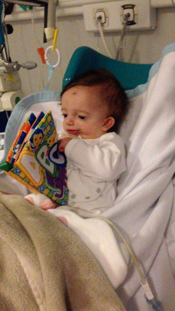 Sin första tid i livet fick hon tillbringa på sjukhuset.