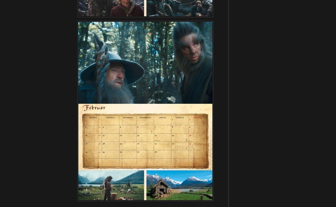 Skärmdump ur den officiella kalendern.