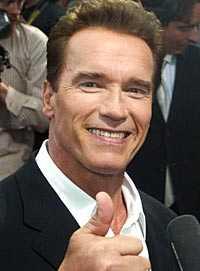 Schwarzenegger vill bli guvernör i Kalifornien.