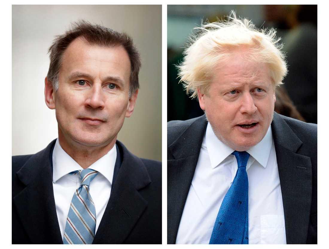 Det blir utrikesminister Jeremy Hunt som ställs mot Boris Johnson i slutstriden om partiledarposten.