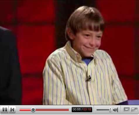 Smartare Femtelklassaren Nathan visste rätt svar. Och vann 25 000 dollar till välgörande ändamål.