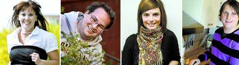 Jenny-Mariah Fegerlind, Jens Sundberg, Emina Borovac och Jonas Forsberg söker jobb.