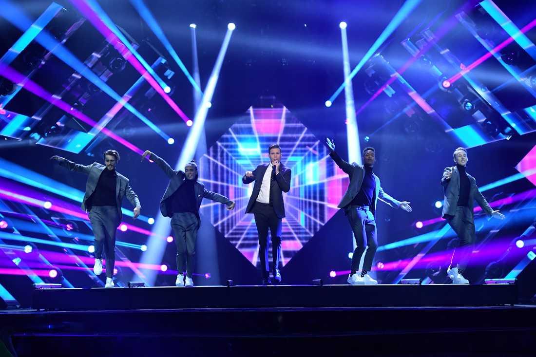 Robin Bengtsson i Melodifestivalens final