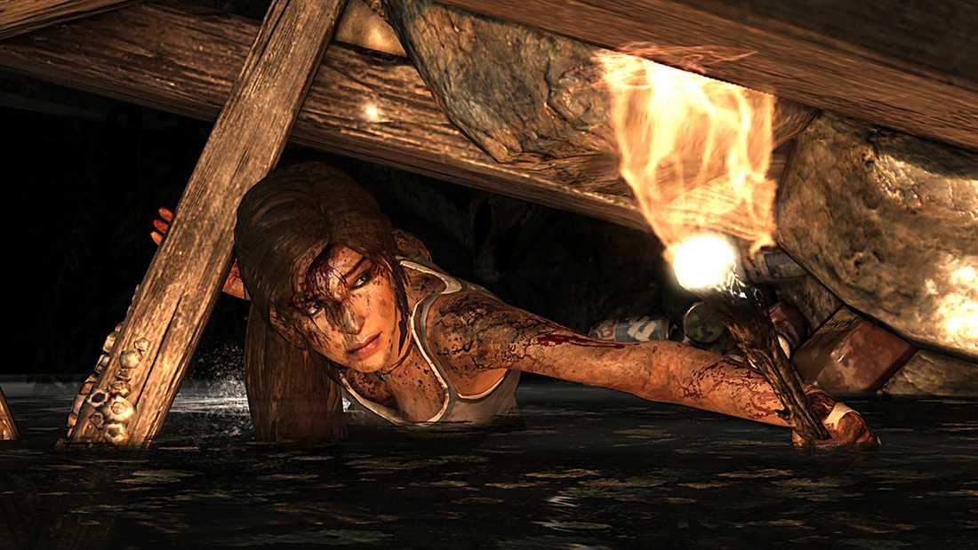"""""""Tomb raider""""-spelen har ofta kritiserats som sexistiska."""
