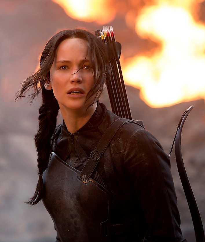 """Ingen dödar bättre än Katniss (Jennifer Lawrence) i """"Hunger games""""."""