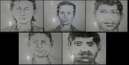 Polisens fantombild över de misstänkta gärningsmännen.