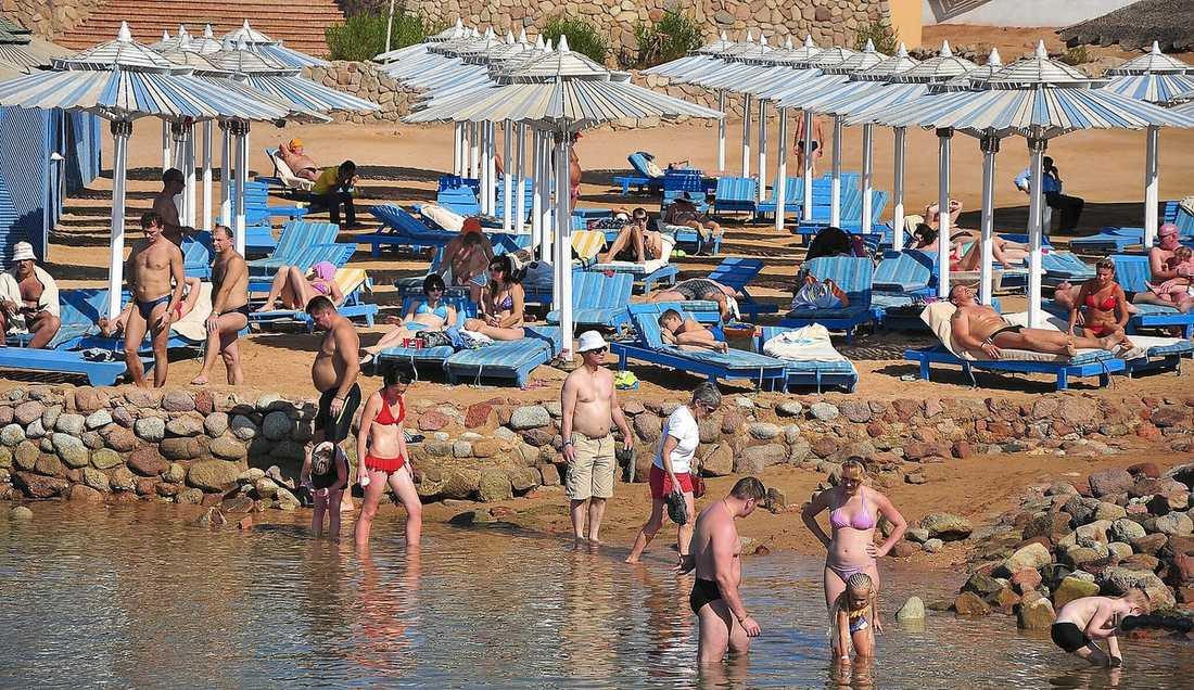Planet lyfte från den populära turistorten Sharm el-Sheikh i Egypten.