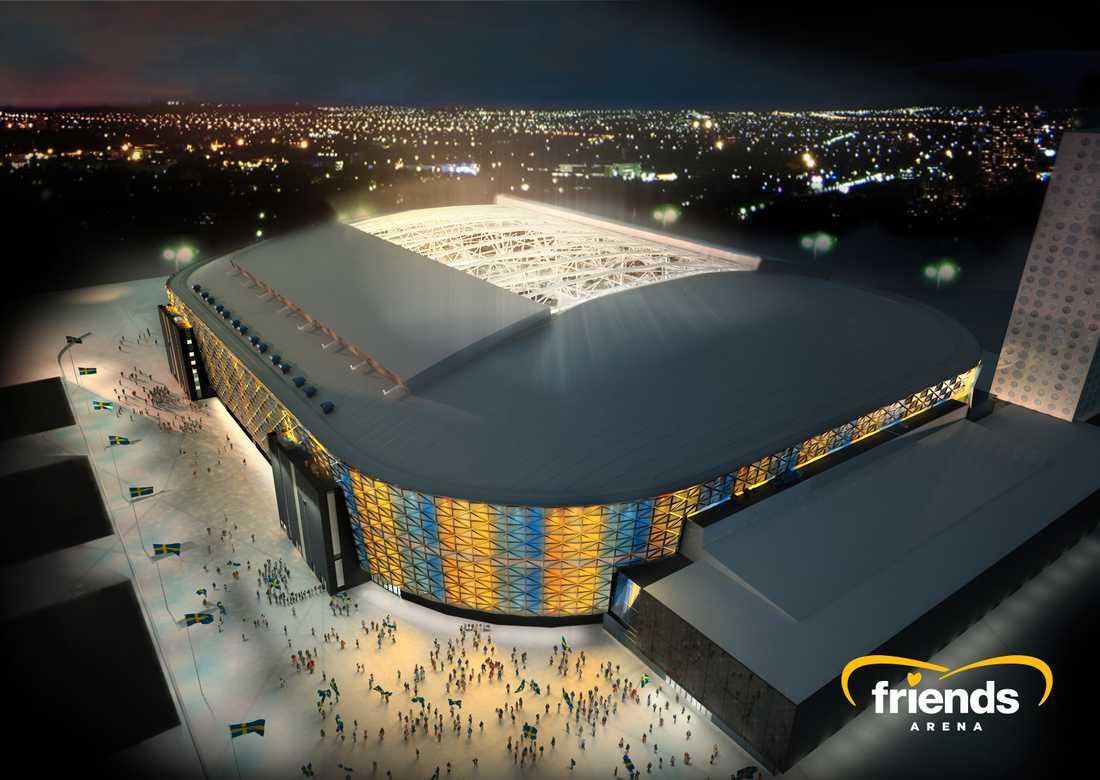 Friends arena i Stockholm.