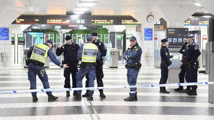 En knivhuggen på centralstationen i Stockholm.