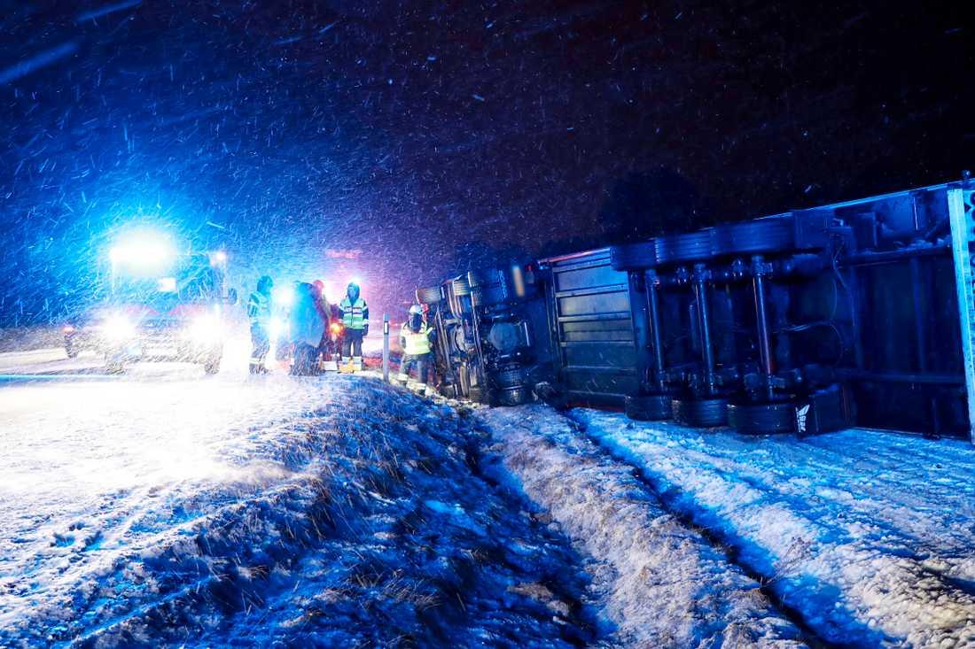 En trafikolycka ägde rum i Vara under söndagen.