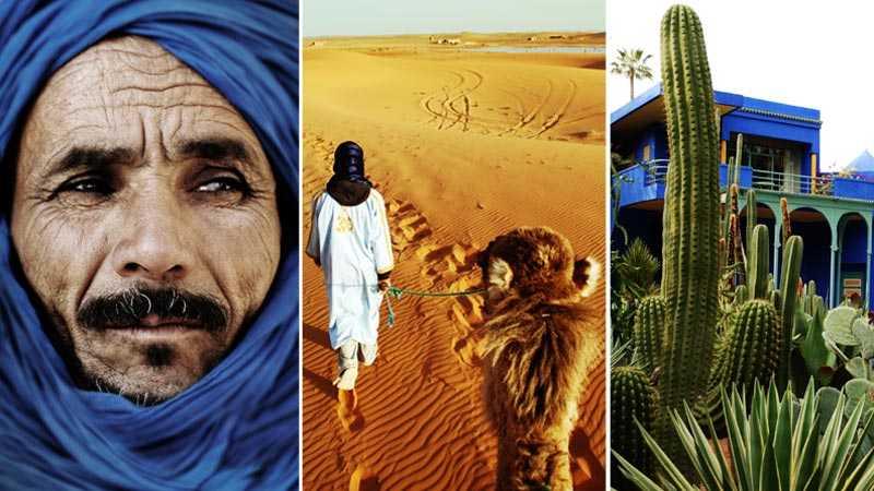 Beduiner, utflykter i Sahara och Jardin Majorelle –tre anledningar att åka till Marrakech.