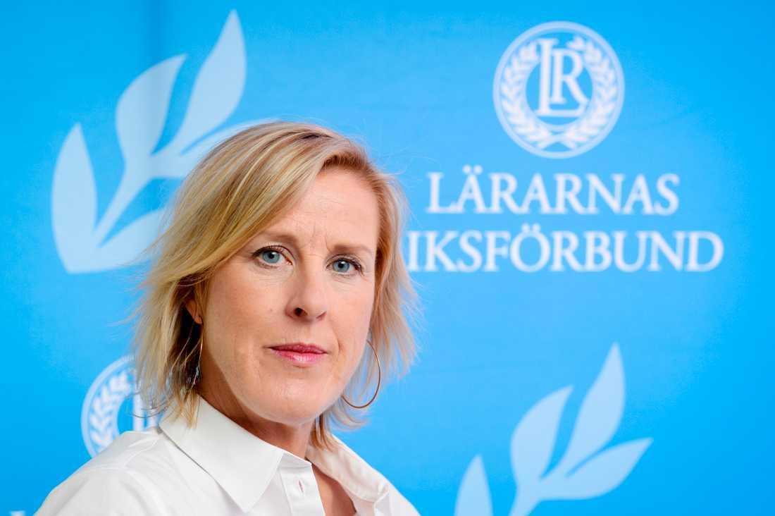Åsa Fahlén, ordförande för Lärarnas Riksförbund. Arkivbild.