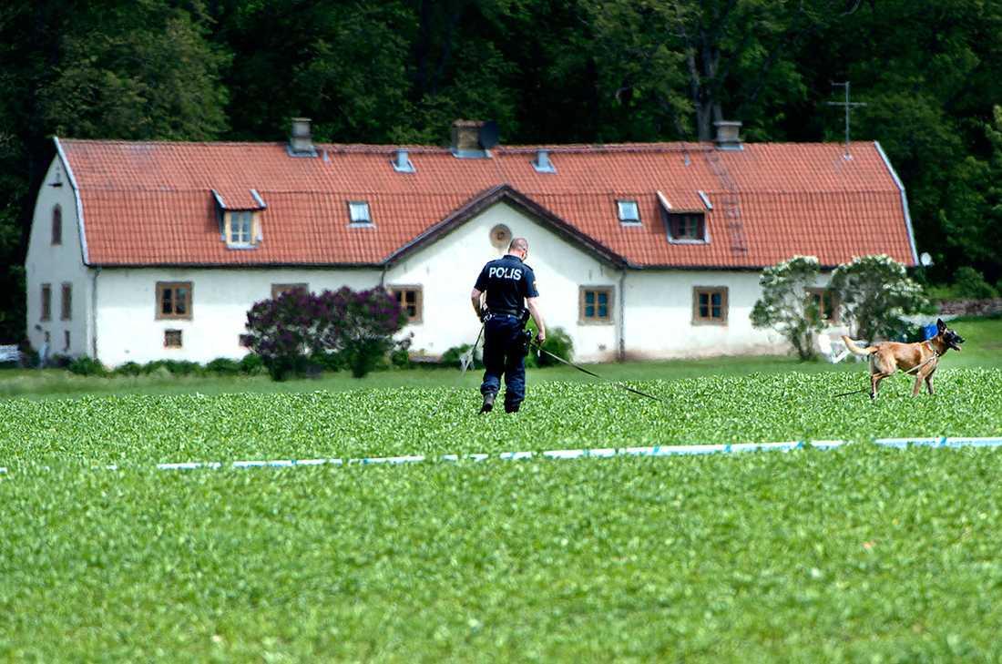 Huset där den morddömde 35-åringen bodde.