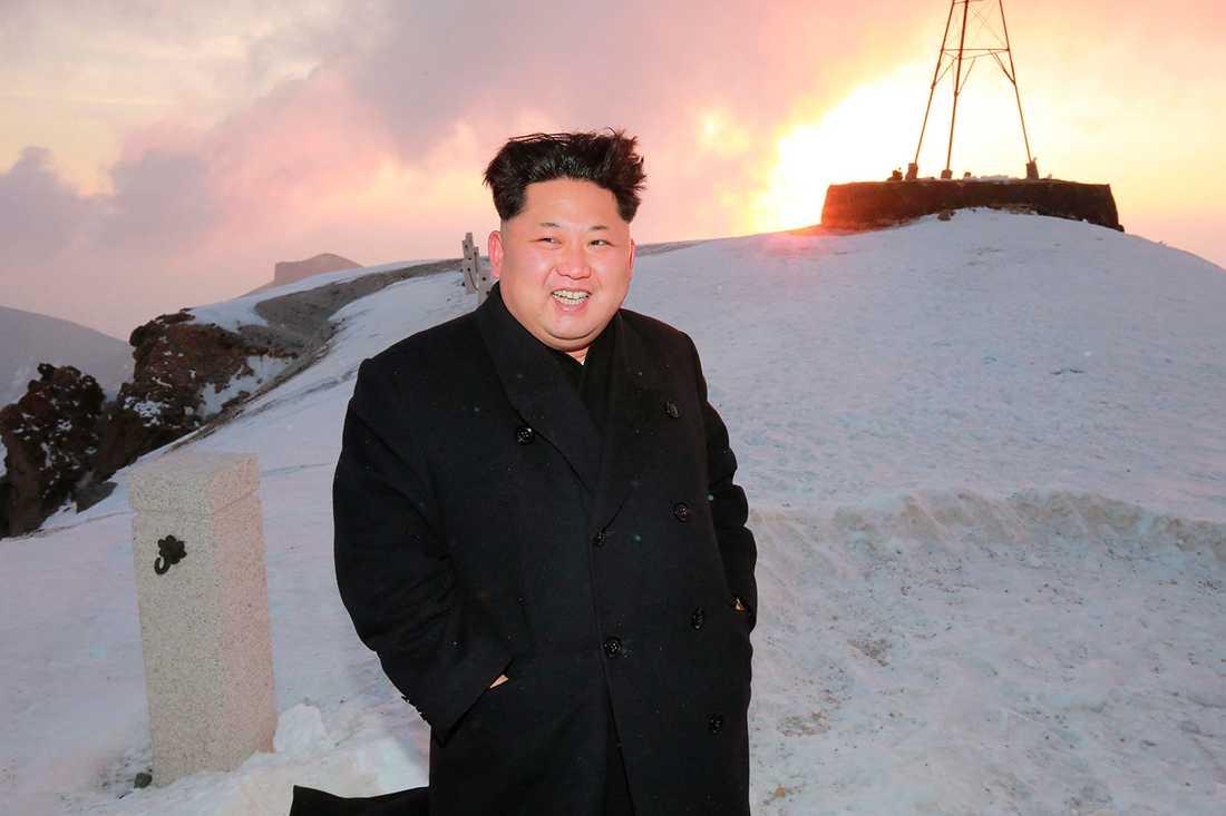 Kim Jong-Un verkar nöjd.