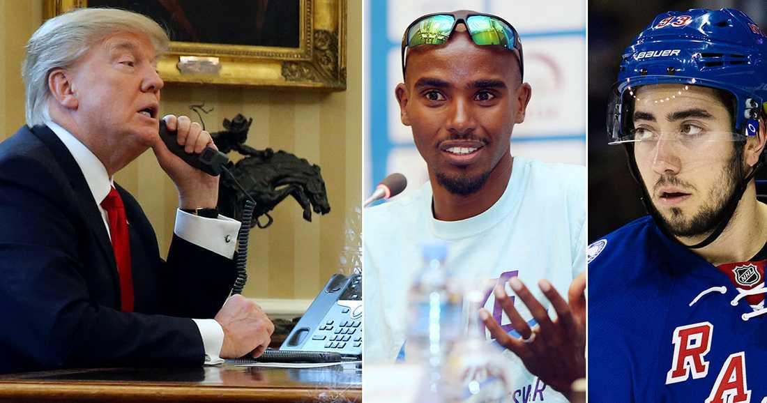 Mo Farah har rötter i Somalia, ett av ländernas om Trump satt stopp för.