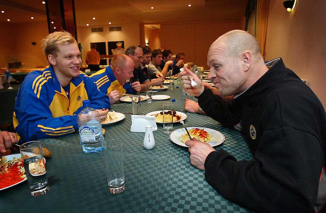 Fosshaug och Johan Esplund under VM 2005.