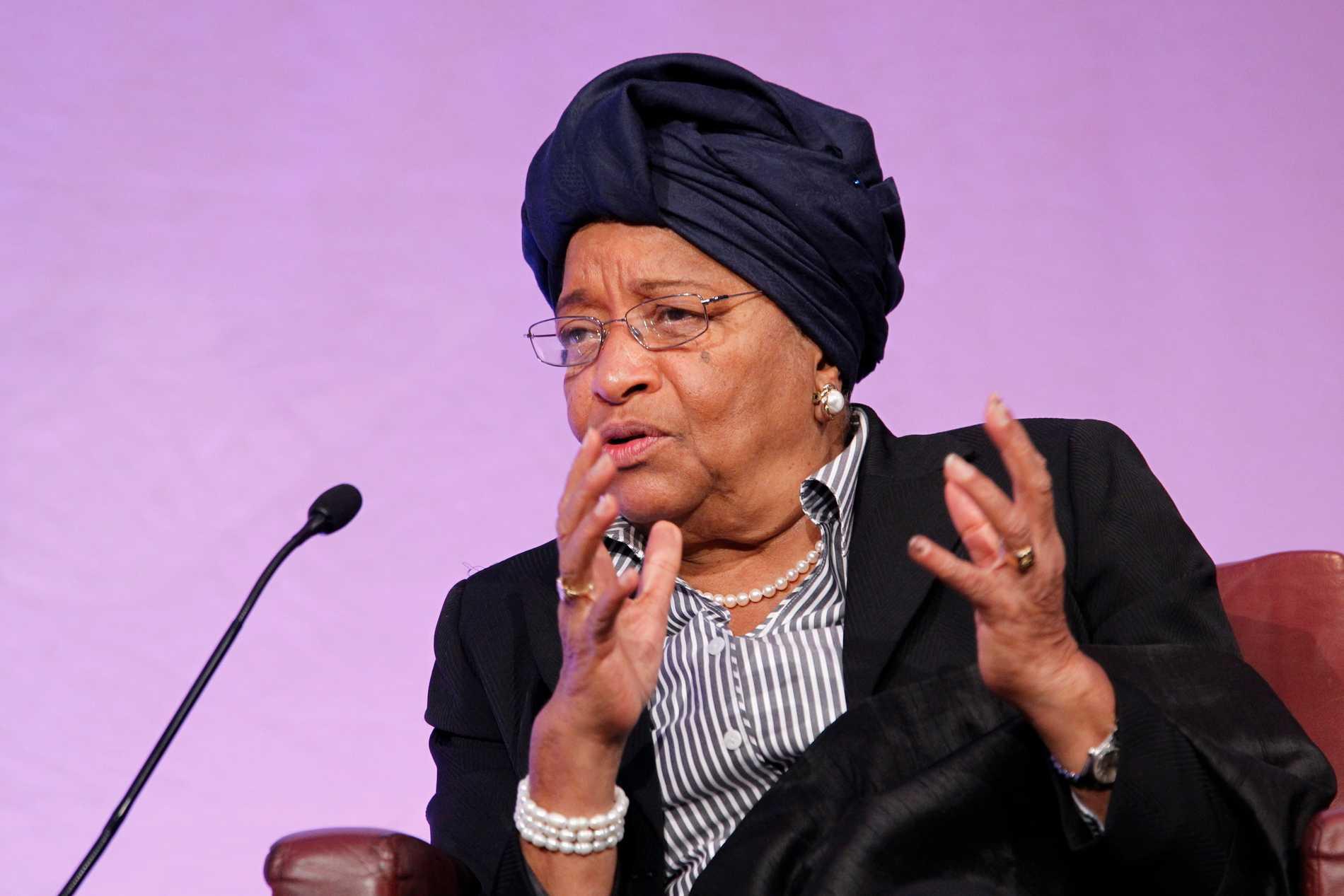 Liberias förra president Ellen Johnson Sirleaf har lett panelen som utvärderat den globala responsen på utbrottet av covid-19. Arkivbild.