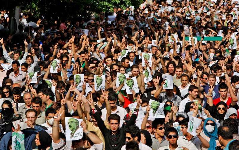 MIljontals människor efter det iranska valet.