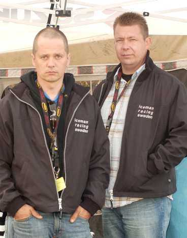 Vännerna Christer Miinin och Johan Wedrup.