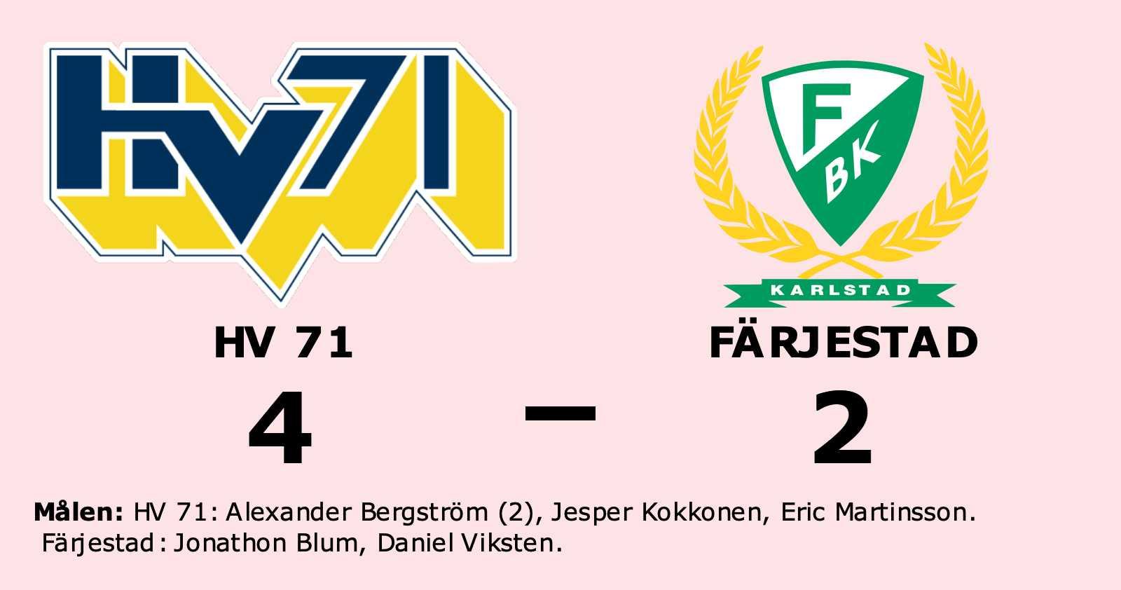 HV 71 vann efter Alexander Bergströms dubbel