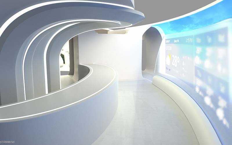 I framtidens flygplan kommer det finnas både bar-område och ett lounge-område, där passagerarna kan umgås fritt med varandra