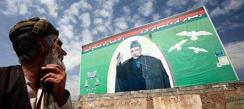 Hamnar Karzai under 50 procent ska en andra valomgång hållas.