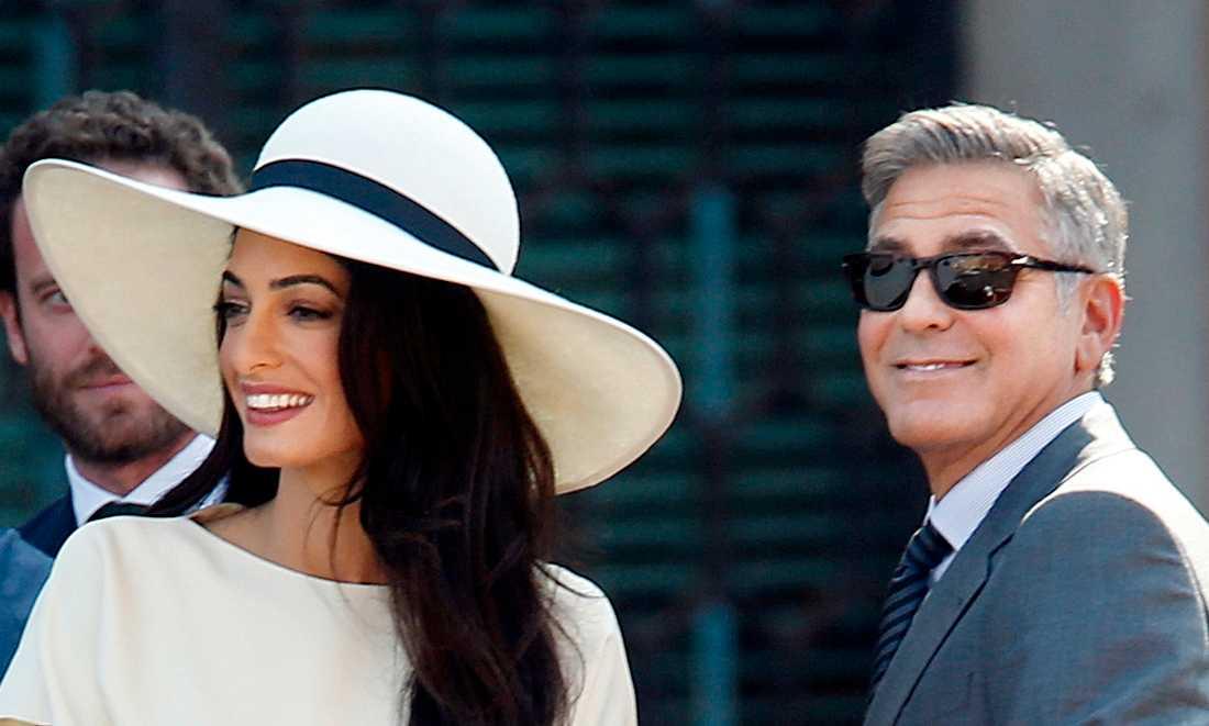 Clooney var enligt uppgift på plats i Italien med familjen.