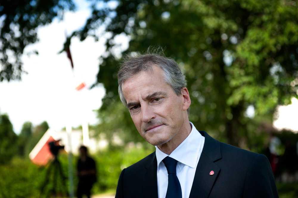 Jonas Gahr Støre, partiordförande Arbeiderpartiet Norge