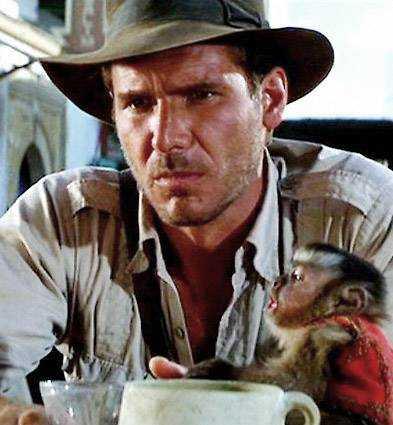Harrison Jones som Indiana Jones.