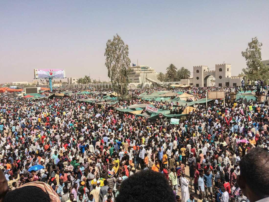Sudaneser firade på torsdagen att president Omar al-Bashir avsatts.