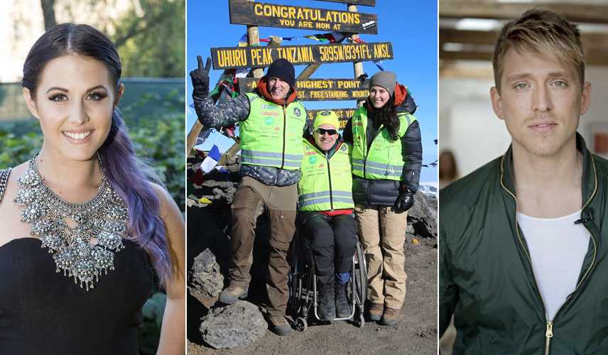 Molly, Danny och Aron besteg Kilimanjaro.