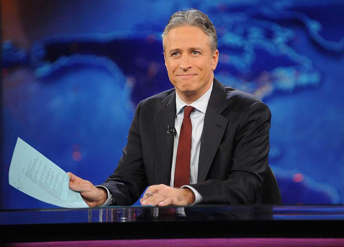 "Jon Stewart lämnar ""The daily show""."