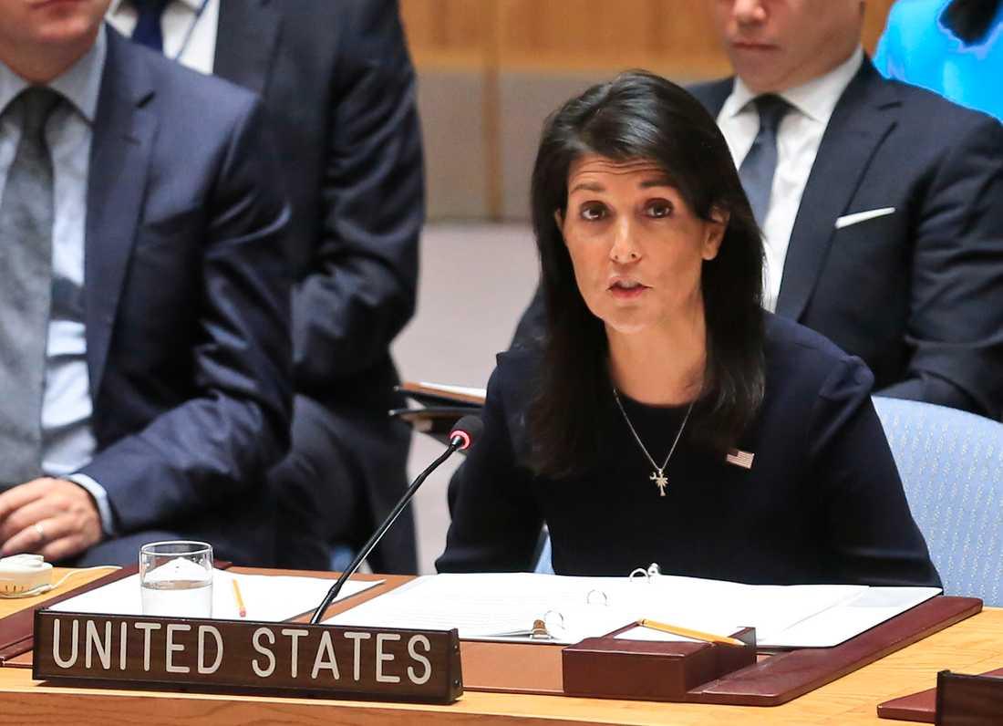 FN-ambassadören Nikki Haley.