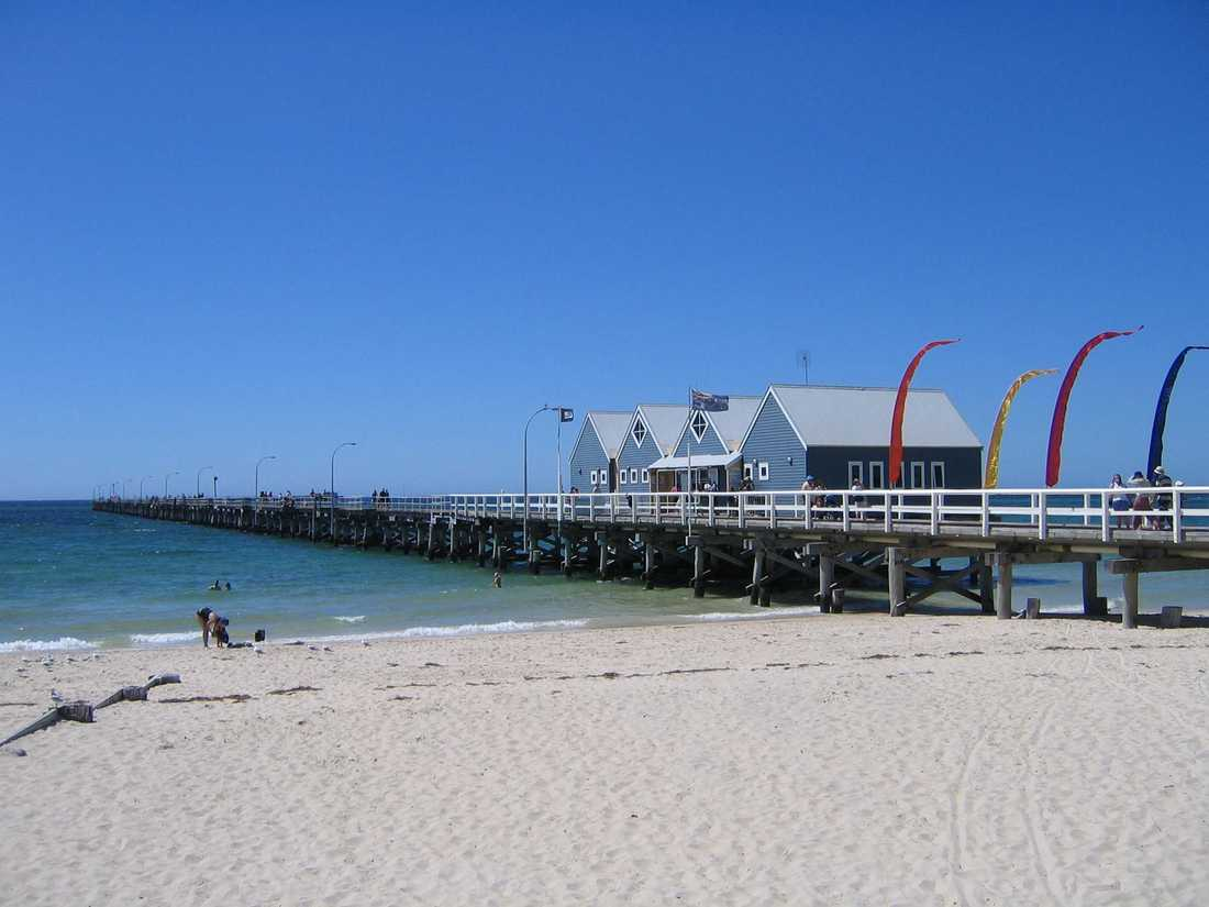 Busselton Jetty i Australien.