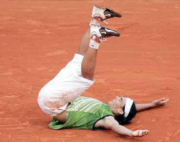 Finalklar Nu ställs Nadal mot oseedade Mariano Puerta.